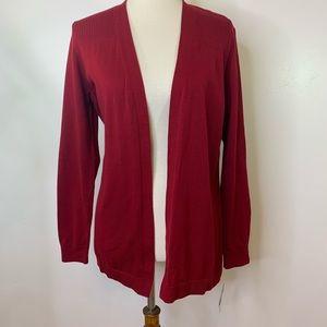 Karen Scott Women's Crimson Open Cardigan Size M